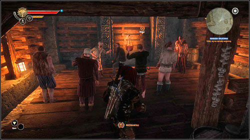 While in the tavern, its quite impossible to miss the bog crowd watching a fist fight - One on One: Vergen - Side missions - The Witcher 2: Assassins of Kings Game Guide