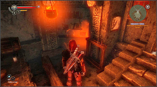Head to Thorak's house (M15, 20) and use the key to open the door - Suspect: Thorak - Side missions - The Witcher 2: Assassins of Kings - Game Guide and Walkthrough