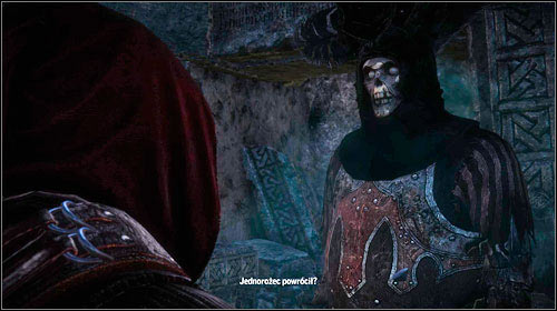 The wraith will ask you a few questions to check if youre telling the truth - Death Symbolized | Iorweth - Main missions - The Witcher 2: Assassins of Kings Game Guide