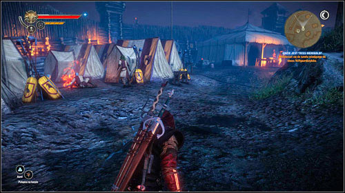 You will be inside the camp and enter stealth mode - Where is Triss Merigold? (steps 8-10) - Main missions - The Witcher 2: Assassins of Kings - Game Guide and Walkthrough