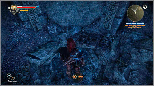 Go through the door (M20, 1) and afterwards the cage - on the right you will find a hole leading to the caves below the camp (M20, 2) - Where is Triss Merigold? (steps 8-10) - Main missions - The Witcher 2: Assassins of Kings - Game Guide and Walkthrough
