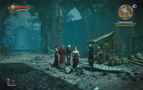 During wandering in Loc Miunne youll meet arguing people on the marketplace, including two scientists youve met in Flotsam - The Secrets of Loc Muinne - Side missions - Iorweth - The Witcher 2: Assassins of Kings - Game Guide and Walkthrough