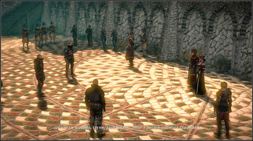 After entering the amphitheatre the course of the meeting is pretty much identical for both paths, however there are some differences depending on your previous choices - A Summit of Mages | Common main missions - Main missions - Common - The Witcher 2: Assassins of Kings Game Guide