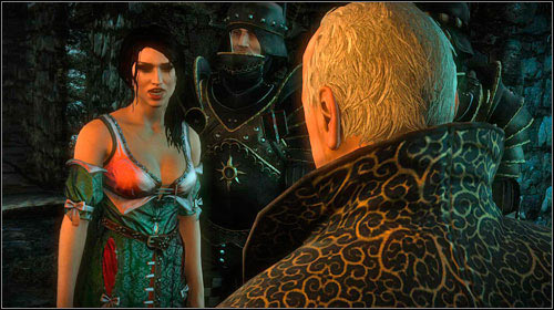 After going through the door, you will note Aryans mother - Luisa - walking out of the torture chamber and talking with Shilard - The Dungeons of the La Valettes (step 5) - Main missions - The Witcher 2: Assassins of Kings Game Guide