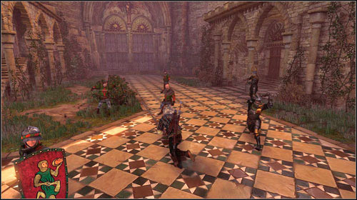 There is a rather serious surprise waiting for you on the courtyard - a group of six soldiers - To the Temple - Main missions - The Witcher 2: Assassins of Kings - Game Guide and Walkthrough