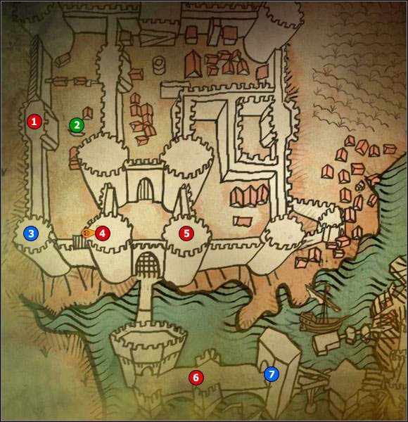 1 - M1 Camp of Foltests Army; M2 La Valette Castle - Maps - The Witcher 2: Assassins of Kings Game Guide