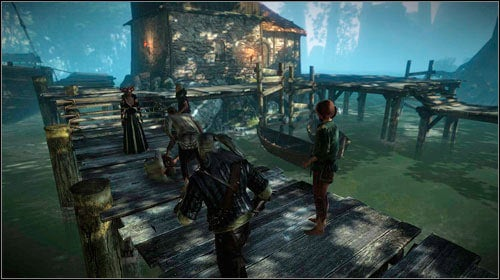 Approach the group of people and join the conversation (or wait for them to notice you) - The Kayran (steps 1-4) - Main missions - The Witcher 2: Assassins of Kings Game Guide
