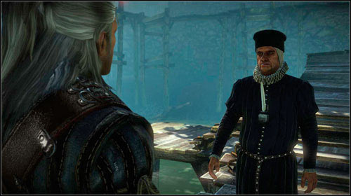 Once the citizens leave, Louis Marse will come and propose you kill the monster - The Kayran (steps 1-4) - Main missions - The Witcher 2: Assassins of Kings Game Guide