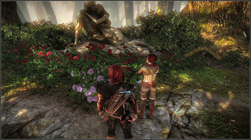 If you agree to look for the Rose with Triss, your companion will direct you to the waterfall (M8, 8) - The Rose of Remembrance - Main missions - The Witcher 2: Assassins of Kings Game Guide
