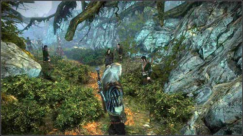If you decided to take the Scoia'tael path, head to the meeting point in the depth of the woods (M8, 23) - The Floating Prison - Main missions - The Witcher 2: Assassins of Kings - Game Guide and Walkthrough