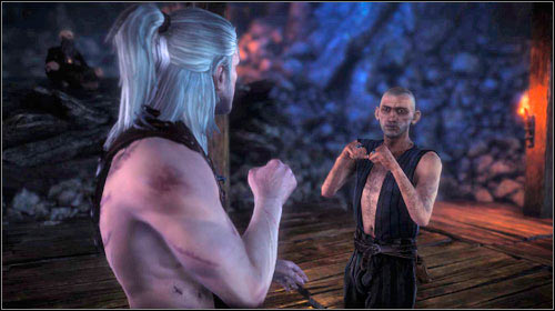 The fight itself, similarly to ones during One on One, focuses around Quick Time Events, which require you to press proper buttons when prompted - Fight Club - Side missions - The Witcher 2: Assassins of Kings Game Guide