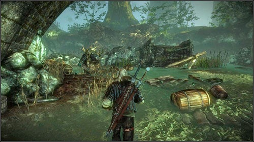If you decide to kill the troll, go down the rock ledges to the river - you will notice the monster sitting by the bridge - Troll Trouble - Side missions - The Witcher 2: Assassins of Kings Game Guide