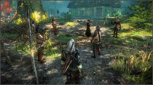 In Lobinden, you will come across a group of guards and one elf, Malena (M7, 17) - Malena - Side missions - The Witcher 2: Assassins of Kings Game Guide