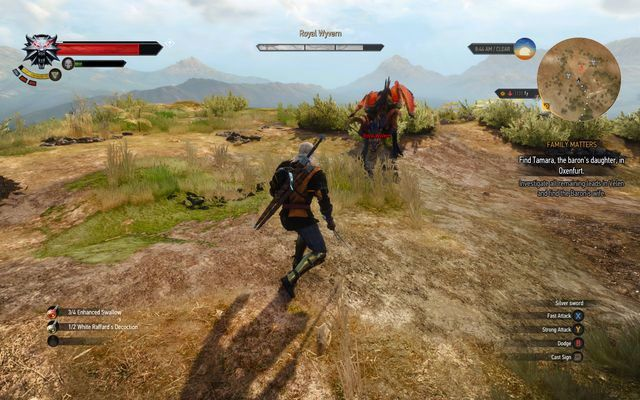 Royal wyvern - Witcher contracts in Crookback Bog - Crookback Bog - The Witcher 3: Wild Hunt Game Guide & Walkthrough