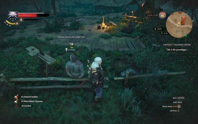 The gravedigger - Witcher contracts in Crookback Bog - Crookback Bog - The Witcher 3: Wild Hunt Game Guide & Walkthrough
