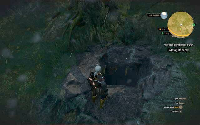 Entrance to monsters cave - Witcher contracts in Crookback Bog - Crookback Bog - The Witcher 3: Wild Hunt Game Guide & Walkthrough