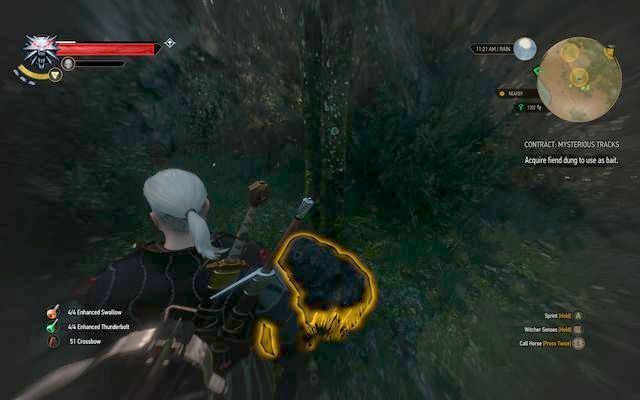 Fiend dung - Witcher contracts in Crookback Bog - Crookback Bog - The Witcher 3: Wild Hunt Game Guide & Walkthrough