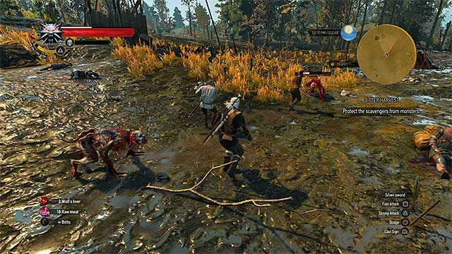 Keep close to Albin Hart and try to protect him - Side quests in Inn by the Crossroads - Inn by the Crossroads - The Witcher 3: Wild Hunt Game Guide & Walkthrough