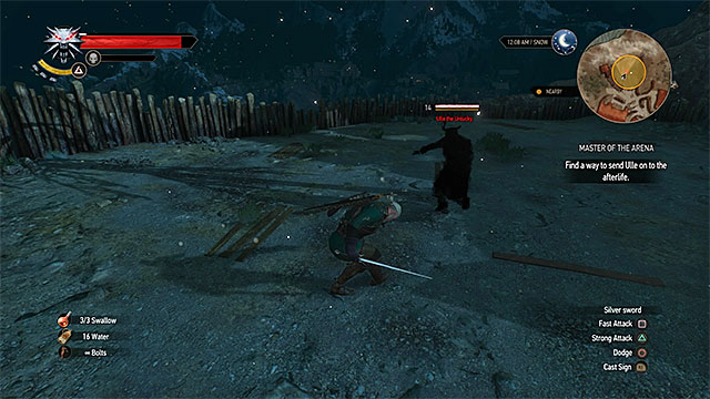 Dont attack the ghost during the second fight on the arena - Side quests in Spikeroog - Spikeroog - The Witcher 3: Wild Hunt Game Guide & Walkthrough