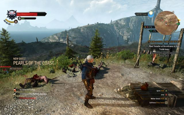 Defeat the pirates to start the quest - Treasure hunt in Kaer Trolde - Kaer Trolde - The Witcher 3: Wild Hunt Game Guide & Walkthrough