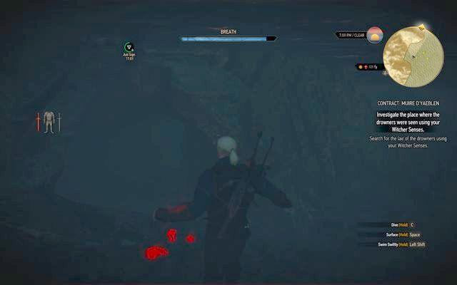 Underwater tunnel that leads to the cave - Witcher contracts in Kaer Trolde - Kaer Trolde - The Witcher 3: Wild Hunt Game Guide & Walkthrough
