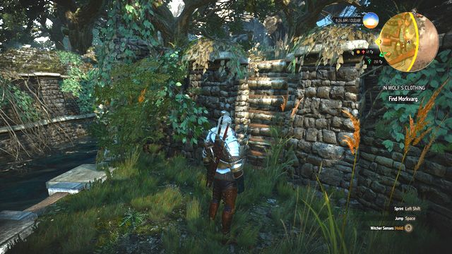 In some situations you will have to use the ladders in the rock. - Side quests in Hindarsfjall - Hindarsfjall - The Witcher 3: Wild Hunt Game Guide & Walkthrough