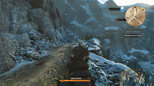 You can reach the forge from the eastern side and pass through the ruined building - Side quests in Crows Perch - Crows Perch - The Witcher 3: Wild Hunt Game Guide & Walkthrough