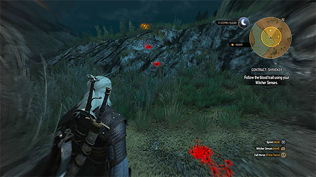 Keep using witcher senses as some tracks are more far away from others - Witcher contracts in Crows Perch - Crows Perch - The Witcher 3: Wild Hunt Game Guide & Walkthrough