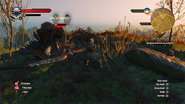 Attack the archgriffin whenever it lands - Witcher contracts in Crows Perch - Crows Perch - The Witcher 3: Wild Hunt Game Guide & Walkthrough