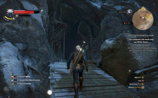 Entrance to the distillery in the mountains - Practicum in Advanced Alchemy - side quest - Kaer Trolde - The Witcher 3: Wild Hunt Game Guide & Walkthrough