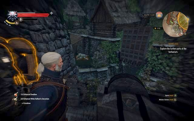 Use the lever to open the hatch and get to the garden - Missing Person, Nameless - main quest - Kaer Trolde - The Witcher 3: Wild Hunt Game Guide & Walkthrough