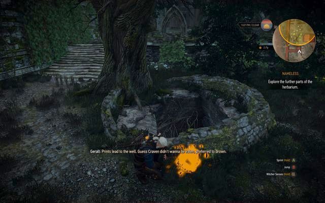 Enter the well near the tree - Missing Person, Nameless - main quest - Kaer Trolde - The Witcher 3: Wild Hunt Game Guide & Walkthrough