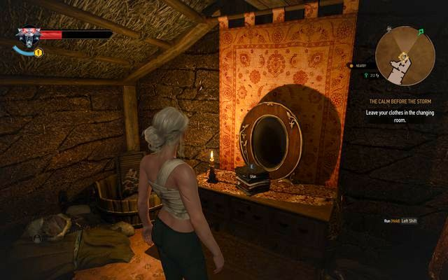 Use the drawer to change Ciris clothes - Missing Person, Nameless - main quest - Kaer Trolde - The Witcher 3: Wild Hunt Game Guide & Walkthrough