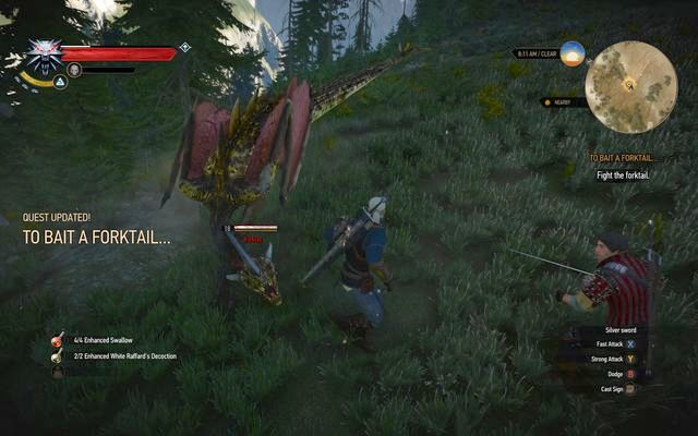 Forktail - Ugly Baby - main quest - Kaer Morhen - The Witcher 3: Wild Hunt Game Guide & Walkthrough