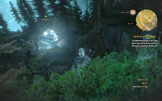 Close three portals in the forest, after that the invisibility will stop working - The Battle of Kaer Morhen - main quest - Kaer Morhen - The Witcher 3: Wild Hunt Game Guide & Walkthrough