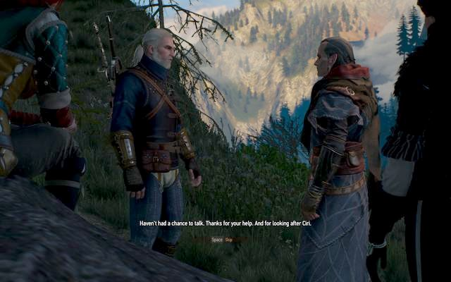 After the conversation with Avallach, go talk to Ciri - Blood on the Battlefield - main quest - Kaer Morhen - The Witcher 3: Wild Hunt Game Guide & Walkthrough
