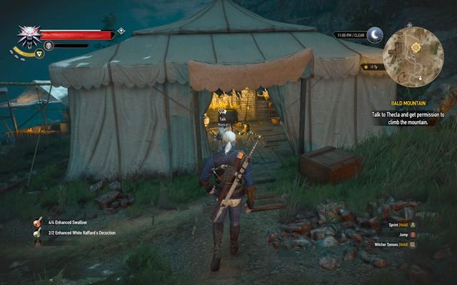 Theclas tent - Bald Mountain - Epilogue - The Witcher 3: Wild Hunt Game Guide & Walkthrough