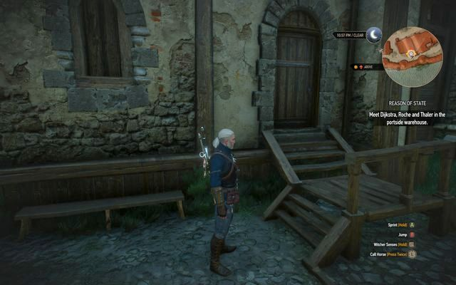 Entrance to the conspirators warehouse - Final Preparations - Epilogue - The Witcher 3: Wild Hunt Game Guide & Walkthrough