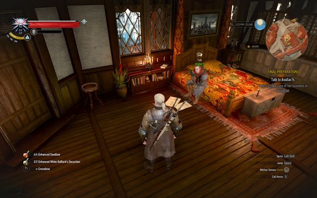 Avallach in his room - Final Preparations - Epilogue - The Witcher 3: Wild Hunt Game Guide & Walkthrough