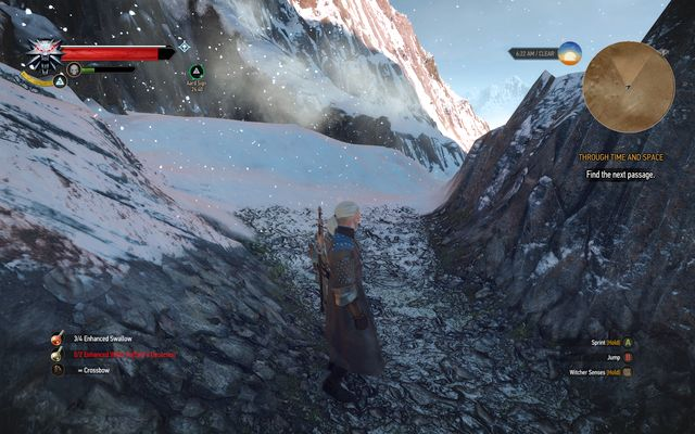 You will protect yourself from the blizzard by hiding behind rocks and buildings - Final Preparations - Epilogue - The Witcher 3: Wild Hunt Game Guide & Walkthrough
