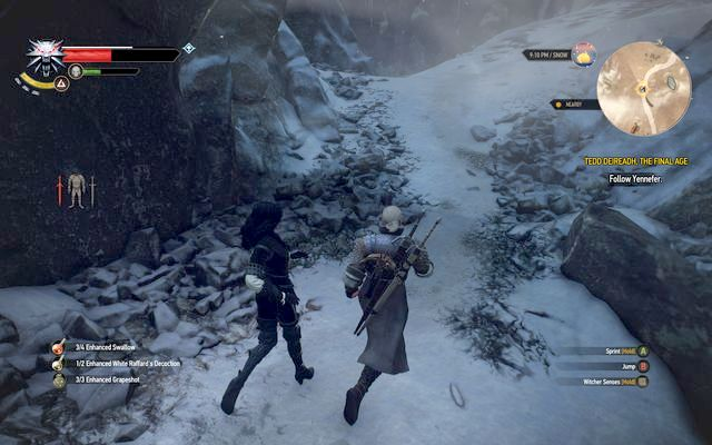Dont leave the barrier created by Yen - On Thin Ice - Epilogue - The Witcher 3: Wild Hunt Game Guide & Walkthrough
