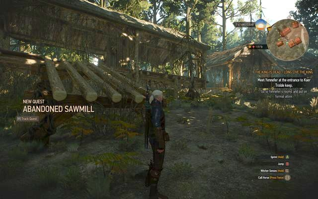 Abandoned sawmill - Side quests in Kaer Trolde - Kaer Trolde - The Witcher 3: Wild Hunt Game Guide & Walkthrough