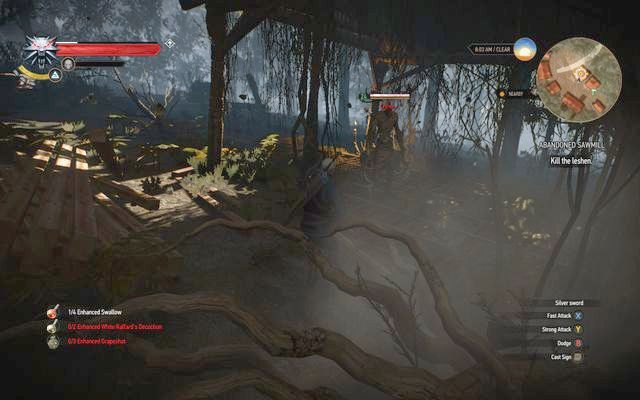 Leshen in the sawmill - Side quests in Kaer Trolde - Kaer Trolde - The Witcher 3: Wild Hunt Game Guide & Walkthrough