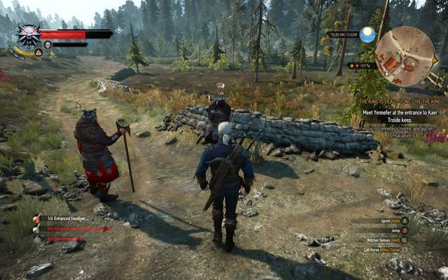 The questgiver at the crossroad - Side quests in Kaer Trolde - Kaer Trolde - The Witcher 3: Wild Hunt Game Guide & Walkthrough