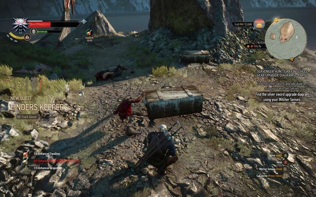 Search both chests on the isle - Side quests in Kaer Trolde - Kaer Trolde - The Witcher 3: Wild Hunt Game Guide & Walkthrough