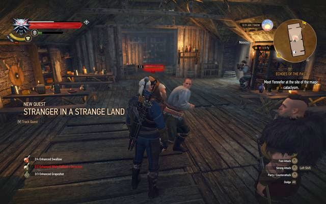 You will be attacked in the inn - the incident will start the quest - Side quests in Kaer Trolde - Kaer Trolde - The Witcher 3: Wild Hunt Game Guide & Walkthrough
