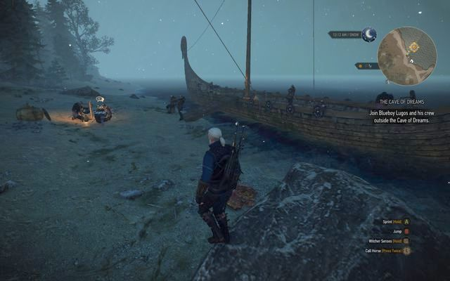 Reach the deck of the ship outside the cave - Side quests in Kaer Trolde - Kaer Trolde - The Witcher 3: Wild Hunt Game Guide & Walkthrough