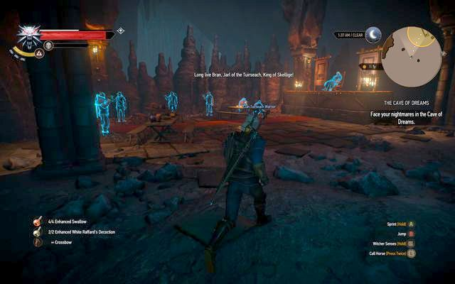 Ghosts at the first totem - Side quests in Kaer Trolde - Kaer Trolde - The Witcher 3: Wild Hunt Game Guide & Walkthrough