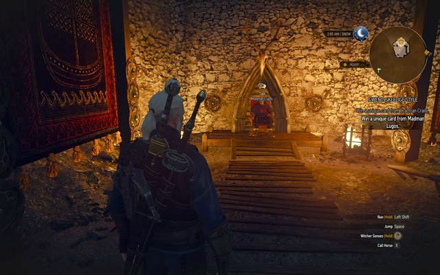 Challenge Lugos in another Gwent game - Side quests in Kaer Trolde - Kaer Trolde - The Witcher 3: Wild Hunt Game Guide & Walkthrough