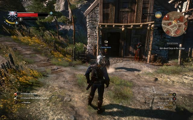 Talk to the woman in front of the house - Side quests in Kaer Trolde - Kaer Trolde - The Witcher 3: Wild Hunt Game Guide & Walkthrough